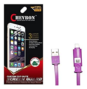 Chevron Ultra Clear HD Screen Guard Protector For Sony Xperia Z2 With 2 In 1 Data Cable (Micro USB & Lighting)
