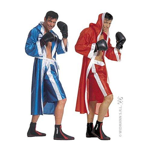 Boxer-outfit (Boxer Kostüm Umhang blau L)
