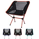 NICEAO Outdoor Folding Camping Chairs Portable Moon Leisure Chair Beach Chairs with Carry Bag for Hiking/Travel/Hunting/Fishing