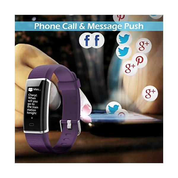 CHEREEKI Pulsera Actividad, Pulsera de Actividad Inteligente Frecuencia Cardíaca Monitor, IP68 Impermeable Pantalla… 5