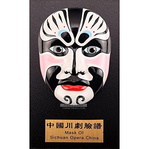 BTJC Oriental dispone di classiche maschere di Sichuan Opera ornamenti d'attaccatura a mano, Zhang Fei