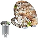 EUGAD 0073MTG-h Abattant WC Lunette de Toilette en Duroplaste Soft Close Motif Fleur...