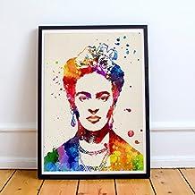 Lámina para enmarcar FRIDA KAHLO 2 estilo acuarela. Poster con imágen de FRIDA KAHLO estilo acuarela. Lámina de la mítica pintora Frida Kahlo. Decoración de hogar. Láminas para enmarcar. Papel 250 gramos alta calidad
