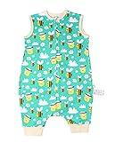 Chilsuessy Baby Schlafsack Kleinkinder Ärmellos Sommerschlafsack 100% Baumwolle 0.5 Tog Sommer Schlafanzug Schlafsäcke Decke Sleeping Bag, Biene, S/Koerpergroesse 70-80cm