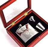 Jack Daniels Deluxe 4oz Hip Flask Presentation Set w/ Funnel & 2 Cups