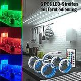 RGB LED Unterbauleuchte, 6 PCS x 50cm LED Strip...