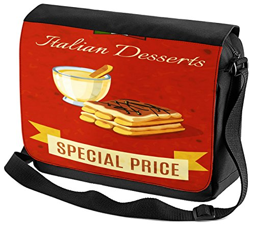 Satchel Shoulder Bag Retro Italian dessert Print
