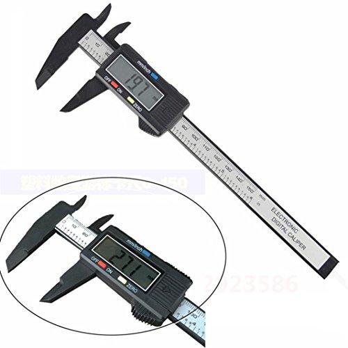 Ularma Nuevo 150 mm 6inch LCD digital de fibra de carbono electrónico vernier calibre calibrador Micromet