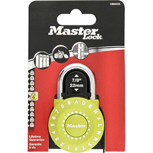 Masterlock 1590EURDCOL, Candado Combi Reset, Surtido: varios colores,