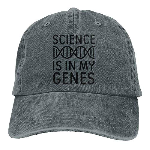Science is in My Genes DNA Denim Hat Adjustable Women Classic Baseball Caps (Golf Classic Knit)