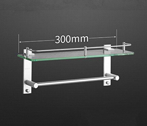 Badezimmer Regal Space Aluminium Glas Regal Duschraum Multifunktionale Badezimmer mit Single Rod Badezimmer Badezimmer ( größe : 30cm )