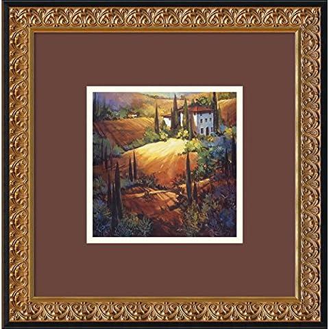 Luz de la mañana la Toscana por Nancy O ' Toole, 46 cm x 46 cm - impresión enmarcada de arte