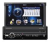 Peiying PY9909.1 1 Din Autoradio mit GPS, Bluetooth, Touchscreen, USB/SD-Funktion, Audio und Video Wiedergabe Schwarz