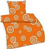 Bettwäsche Renforce-Bettwäsche orange mit Pusteblumen 135 cm x 200 cm Permine 2