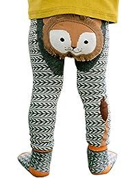 mioim Baby Butt Thermo-Strumpfhose Kinder Jungen Mädchen Leggings Hose Strumpfhosen Winter Baumwolle Pants mit Socken 80-100 cm