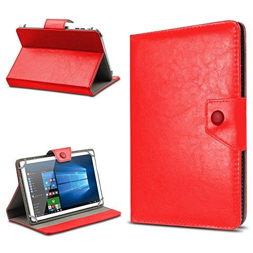 UC-Express Tasche Schutz Hülle für TrekStor SurfTab xintron i 10.1 Tablet Case Stand Cover Farbauswahl, Farben:Rot, Tablet Modell für:BLAUPUNKT Endeavour 1000 WS