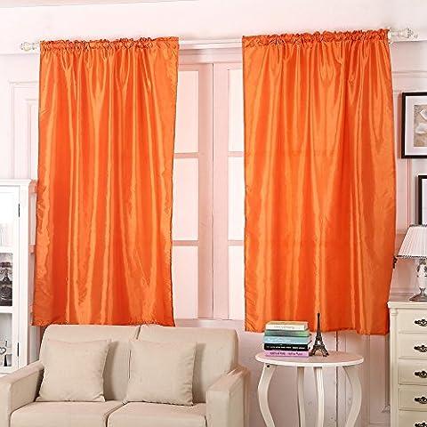 Xshuai Qualitäts-heiße Verkaufs-1PCS feste Farben-Fenster-Vorhang-Platten-Behandlung-Tür drapiert 145cm x 180cm  (Rosa Schwarz Rot Orange Grün Beige Braun Gras grün) (Orange)