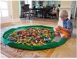 Toocoo Toy Storage Bag Drawstring Organizer 150CM 60Inch Kids Play Mat(Green)