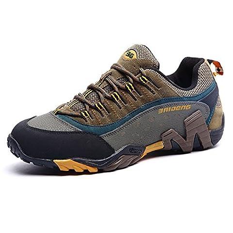 Inovey Sports D'Extérieur Escalade Chaussures Décontractées Camping Randonnée Trekking Loisirs Chaussons De Gymnastique Chaussures De Sport Respirant -Khaki -45
