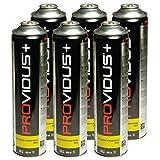 Pack von 6Kartusche Gas 330g Butan Propan Mix–Flasche von Gas Ventil 600ml–Korbflasche mit für Unkrautbrenner
