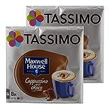Tassimo Maxwell House Cappuccino Choco, Kaffee, Kaffeekapsel, T-Disc, Schokolade, 16 Portionen