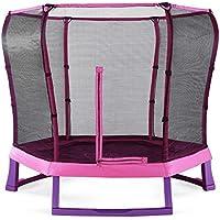 Plum® 213cm Junior Tramp mit Sicherheitsn - Pink/Lila (pink/lila)