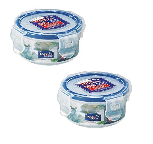 Schloss & LOCK 100 ml Extra kleiner runder Vorratsbehälter, 2 Stück (Extra Kleine Kiste)