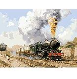 OKOUNOKO Puzzles De 1000 Piezas para Adultos 3D Fotos Paisaje Tren De Vapor para La Decoración del Hogar Imagen Moderno Abstracto De Madera Personalizado Montaje Jigsaw Puzzles Divertido