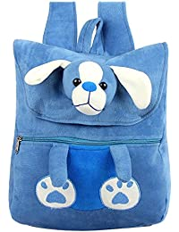 Say Basket Kids School Bag Stuffed Plush Bags Soft Toy Picnic Backpack Sky Blue Dog