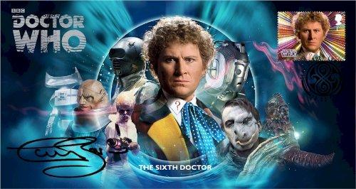 Dr Doctor Who BBC Offizielle 50th Anniversary Limited Edition Colin Baker unterzeichnet Ersttagsbrief - Die Sechste Doktor - Colin Baker -