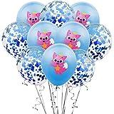 LIZHIOO 10pcs Dessin animé Mignon Requin Renard confettis Ballon Ensemble Animal...