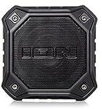 ION Audio Dunk, Altoparlante Portatile Bluetooth con Grado di Impermeabilità Ipx7, Driver Full Range, Radiatore Passivo per Bassi, Microfono Incorporato e Batteria Ricaricabile con Oltre 10 Ore di Autonomia, Nero