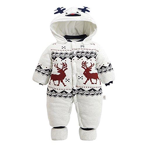 Schöne Menschen Kleidung (KINDOYO Unisex Cartoon Baby Mädchen und Jungen Overall Herbst & Winter Verdickte Strampler Kleidung)