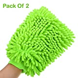 #7: Hugo Car Styling Glove Microfiber Washer Towel Duster For Cleaning Car Microfibre Chenile Duster With Glove & Grip. 2 in 1. Car Accessories. Useful for cleaning Car, Glass, Motorcycle, Bike, Mirror, Tile Etc.(Pack Of 2)