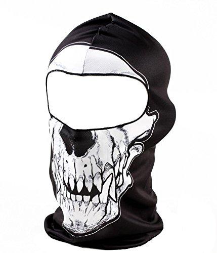 Unbekannt 3D Gesichtsmaske Motorrad Maske Skimütze Sturmhaube Balaclava Halloween (MA008) (1)