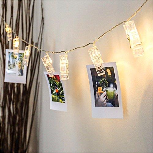 Preisvergleich Produktbild ERGEOB Foto Klammer Lichterkette DIY handgemachte Weihnachtsdekoration Geburtstag Hochzeitstag Licht warmweiß 10LED