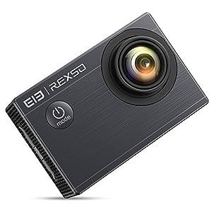 "Elephone Explorer X Cámara deportiva 4K 1080P 60fps con Pantalla LCD de 2.0"", WIFI Cámara de Acción Deportiva Sumergible hasta 30m, Vídeocamara de Acción para Deportes Actividades, Color Negro"