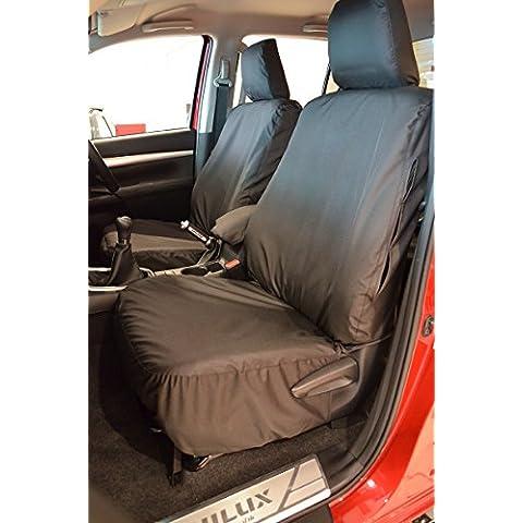 Toyota Hilux a partir de icono y invencible 2016doble cabina delantera y trasera negro fundas de