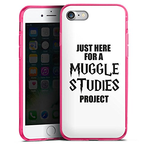 Apple iPhone 8 Silikon Hülle Case Schutzhülle Harry Potter Spruch Muggle Silikon Colour Case pink
