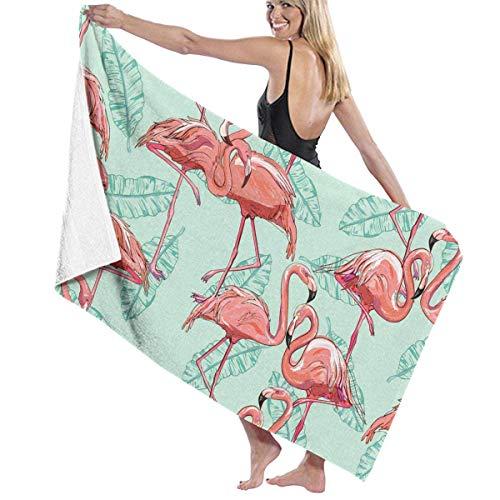xcvgcxcvasda Serviette de bain, Beach Bath Flamingo Personalized Custom Women Men Quick Dry Lightweight Beach & Bath Blanket Great for Beach Trips, Pool, Swimming and Camping 31