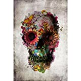 Coloré(TM) Peinture en Diamant 5D broderie Dod fleur crâne l'affiche de tissu de dentelle de sucre mort 36x24 / 20x13 pouces (50*33cm)