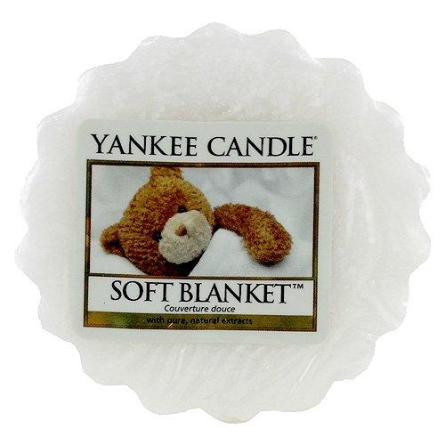 Yankee Candle Weiche Decke Duftwachstörtchen zum Schmelzen 22g, Wachs, weiß, 2 x 5.7 x 5.5 cm