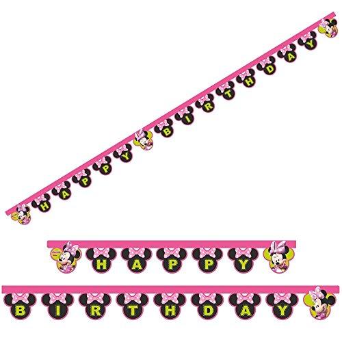 Geburtstag Glückwunsch Kette Banner Mouse 2,00 m (Banner Minnie Mouse)