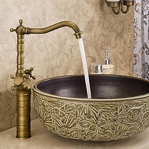 Hanmei bagno Piano lavabo doppio manico lavabo rubinetto antico brasscopper lavabo rubinetto