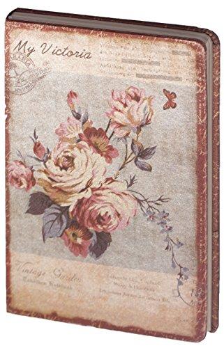 D8024KALPA Victoria DreamNotes Organizer Notebook 14x 21cm–My Victoria Purple Pink Rose