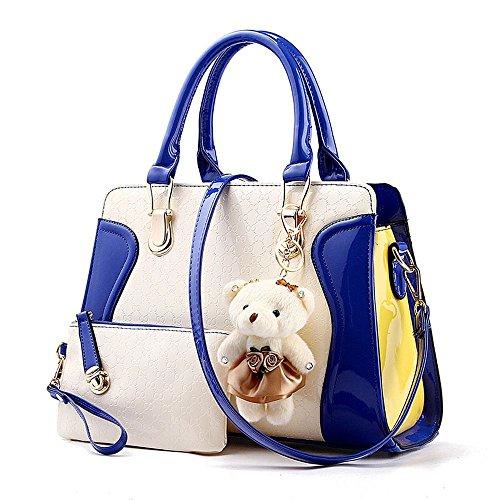 koson-man-cute-bear-borsa-tote-bags-maniglia-superiore-a-blu-blu-kmukhb183