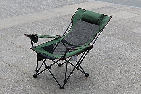 Chaise pliante, le déjeuner en plein air, lit, fauteuil, fauteuil de pêche portable,fruit vert