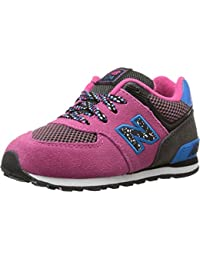 New Balance Kids Baby Girl's 574 Outside In (Infant/Toddler) Black/Pink Sneaker 2 Infant W