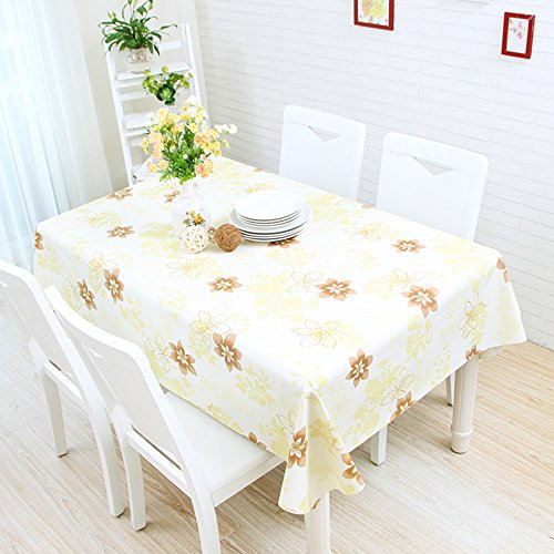ZWL Waterproof Tablecloth Plastic Soft Rectangle Retro Dining Table Coffee Restaurant Shop Flower Living