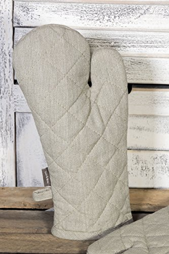 ein Topfhandschuh Farbe beige, Material 100% Baumwolle (Lammfell Shopper)
